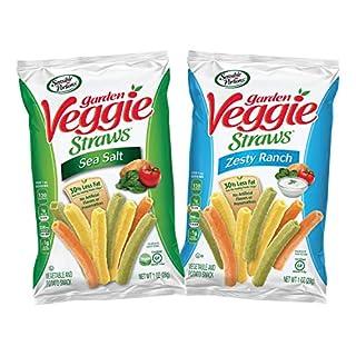 Sensible Portions Veggie Straws, Sea Salt, Ranch, Snack Size, 1 oz, 24 Count