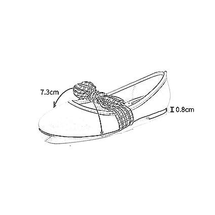 YQQ Zapatos De Primavera Verano Sandalias Femeninas Zapatos Planos Mariposa Nudo Boca Poco Profunda Zapatos De Mujer Salvaje Cómodo Literatura Y Arte (Color ...