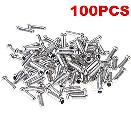 100 x Road Mountain Bicycle Brake Cable Caps Cover End Tips Crimp Ferrules