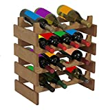 Wooden Mallet 8-Bottle Dakota Wine Rack, Light Oak For Sale