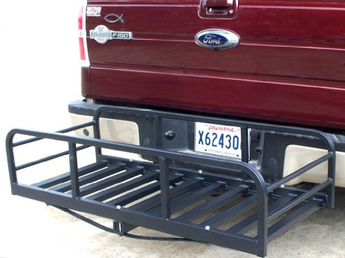 Premium USA Auto Truck SUV Hitch and Ride Black Cargo Carrier Rack Large Magnum by Great Day