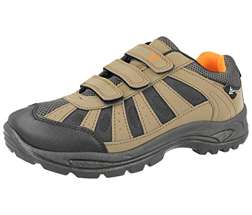Wyre Valley Mens Coniston Hiking Trail Walking Trekking Style Outdoors Triple Touch Close Straps Trainers Size 7-12 Brown/Grey/Orange 0bajk