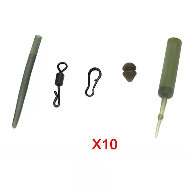 18 Wide Gape Micro-Barb carp hair rigs size 6,8,10 Hooks fit safety lead clips