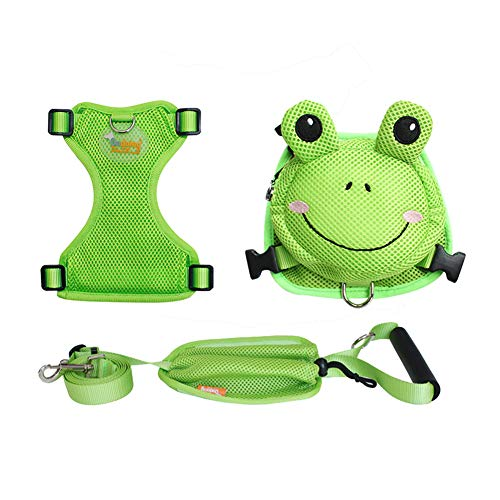 OMEM Backpack for Pets to Wear Chest Strap Traction Rope Harness Fit Small Medium Cats Dogs