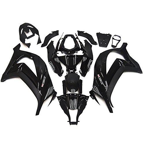 Sportfairings Abs Plastics Injection White Black Motorcycle Fairing