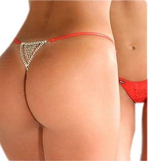 Bigood Lingerie String Femme Cristal sous-vêtement Erotique Chaîne f14ee16634a