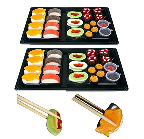 Raindrops Candy Gummy Sushi Bento Box 2 Pack With A Pair Of Chopsticks