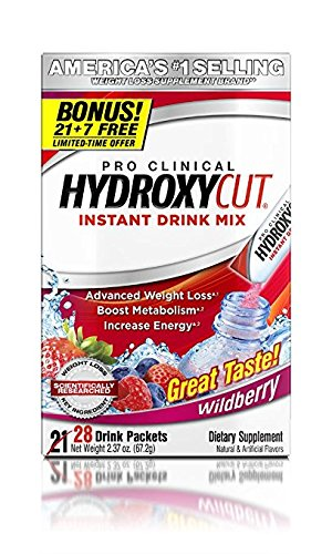 Hydroxycut Drink Mix, Scientifically Tested Weight Loss and Energy, Weight Loss Drink, 28 Packets (67.2 grams) 4 Pack by Hydroxycut