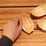 BambooMN Brand - Disposable Wood Boat