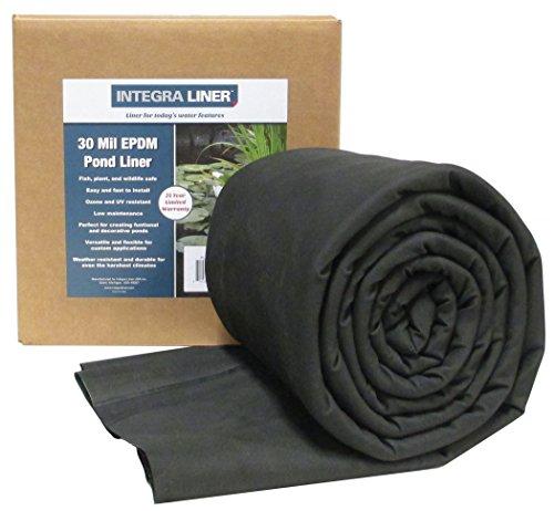 EasyPro Integra 30 Mil EPMD Rubber Pond Liner, 15 x 20'