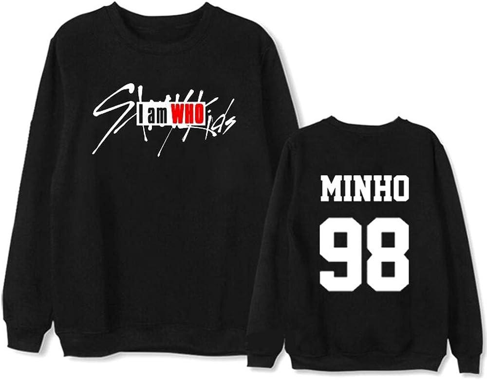 Omnnnelpo Stray Kids Pullover Sweatshirt Popular Long Sleeve Tops Imprint Sweater Round Neck Pullover Unisex