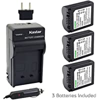 Kastar CGA-S006 Battery (3-Pack) and Charger Kit for CGR-S006 CGR-S006A/1B CGA-S006 DMW-BMA7 DE-A43/A43B and Lumix DMC-FZ18 DMC-FZ28 DMC-FZ30 DMC-FZ35 DMC-FZ38 DMC-FZ50 DMC-FZ7 DMC-FZ8 Cameras