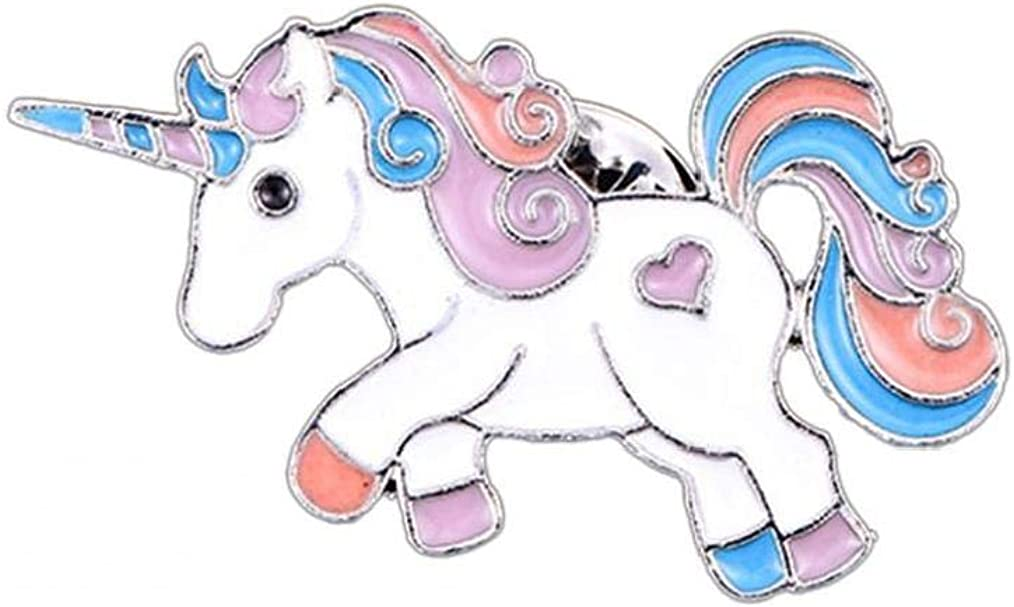 Licorne /Épinglette Mignon Arc-en-Licorne Animal Glitter /Émail Broche pour Sac V/êtements DIY D/écor