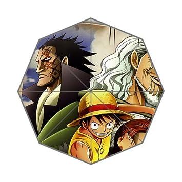Moda paraguas personalizados Anime de One Piece Luffy calendario plegable paraguas mujeres paraguas hombres paraguas niños