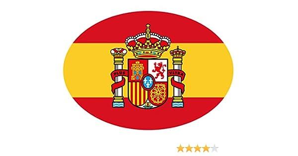 Artimagen Pegatina Bandera Oval Escudo España 80x60 mm.: Amazon.es: Coche y moto