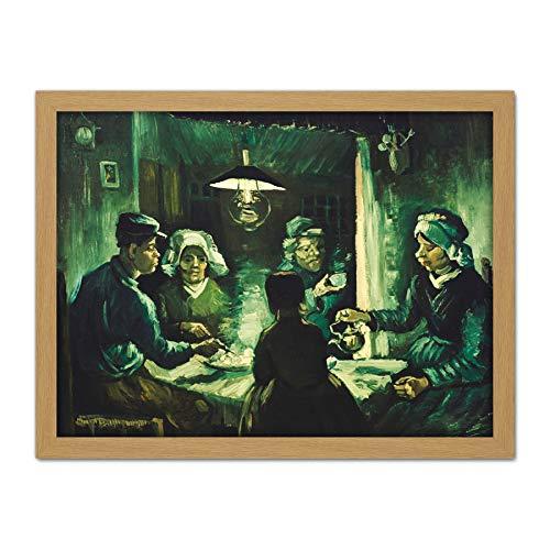 Vincent Gogh Eaters Van Potato The (Vincent Van Gogh The Potato Eaters Large Framed Art Print Poster Wall Decor 18x24)