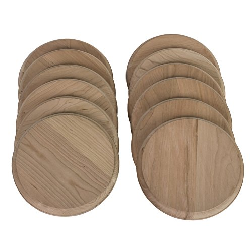Walnut Hollow Assortment Cherry Rounds for Crafting and Hobbies (Figure Plaque)