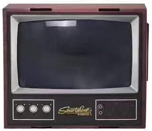 nbvmngjhjlkjlUK Vintage TV Smart Phone Magnifier, Vintage TV Teléfono móvil Smartphone Pantalla Lupa Amplificador de Video Amplificador expansor Soporte para Video TV Show (Negro): Amazon.es: Hogar