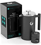 Vacuum Insulated French Press Coffee Maker | 34 Oz | Hotter For Longer - Premium Stainless Steel Cafetiere - FREE Mini Storage Canister фото