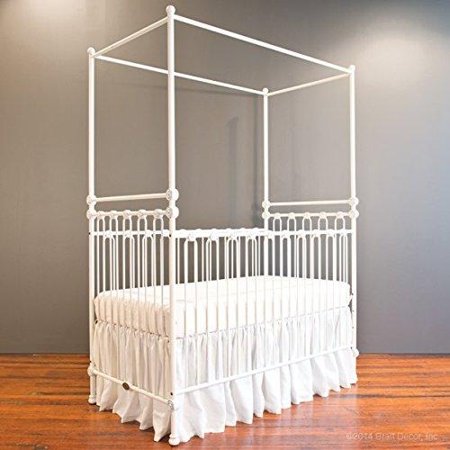Bratt Decor joy canopy crib distressed (Bratt Decor White Crib)