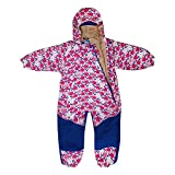 JAN & JUL Kids Water-Proof Fleece-Lined Rain Suit One-Piece Hooded (Tulip,1T)