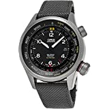 Oris Men's 'Big Crown' Swiss Automatic Stainless Steel and Canvas Casual Watch, Color:Grey (Model: 73377054134LS17)