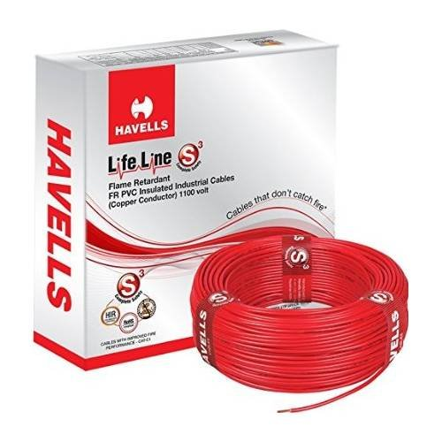 Havells Copper 4 Sq mm Lifeline Cable (Red) (B0725M17TD) Amazon Price History, Amazon Price Tracker