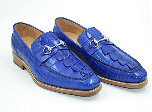 de de NBWE Luxe à Mode Gamme Shoes Hommes Affaires Losfers Main Party Chaussures Cuir Bas Talons Chaussures la Blue Haut Goodyear personnalisé Derby pqqEwrfU