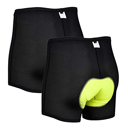 Cycling Underwear Men's Cycling Shorts 3D Padded, Bike Shorts Men's Bicycle Shorts (2, M) Black