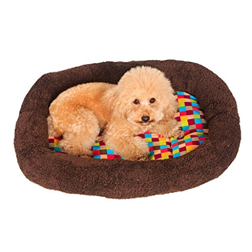 Fashion Pet Bed, SUPPION Colorful Squares Warm Indoor Pet Puppy Plush Ring Cushion, Comfort Dog Bed Blanket Mat - Stores Square In Union