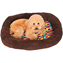 Fashion Pet Bed, SUPPION Colorful Squares Warm Indoor Pet Puppy Plush Ring Cushion, Comfort Dog Bed Blanket Mat (15.75''*11.81''*1.77'')