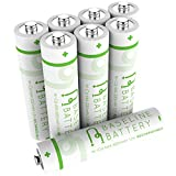 8 AAA 300mAh Ni-Cd Rechargeable Batteries 1.2V for Garden Solar Lights, Remotes, Controllers, Cameras