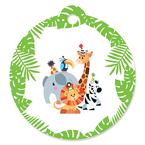 Jungle Party Animals - Safari Zoo Animal Birthday Party or Baby Shower Favor Gift Tags (Set of 20) (Tags Zoo)