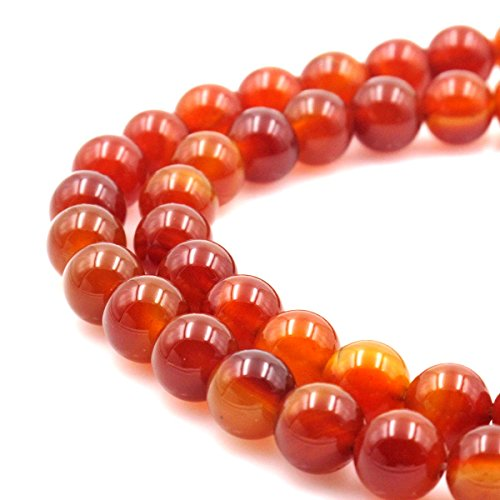 - BRCbeads Gorgeous Natural Red Carnelian Gemstone Round Loose Beads 12mm Approxi 15.5 inch 30pcs 1 Strand per Bag for Jewelry Making