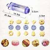 Cookie Biscuit Press Mold Kit - Food-Grade Plastic Cookie Gun Set With 10 Discs And 8 Icing Tips Baking Tools Cream Puffs Muzzle Decorating Utensils by Enjoystore