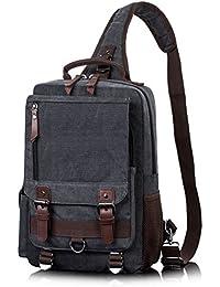 Messenger Bag for Men, Canvas Crossbody Sling Shoulder Bags for Women Haversack