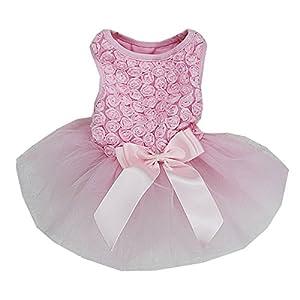 Rosettes Dog Dress Dog Dress Medium Light Pink