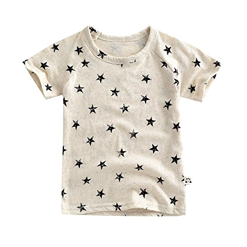 Agibaby-Boys-Girls-Infant-Toddler-Soft-Cotton-Hemp-Short-Sleeve-T-Shirt-Star