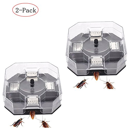 2 Pack- Cockroach Trap-Exquisite, Safe, Efficient, Reusable Cockroach Trap,Quickly Captured Roaches
