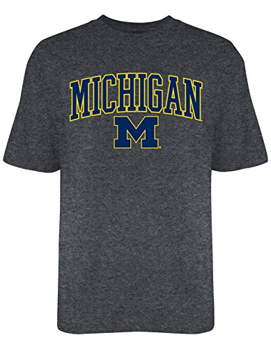 Elite Fan Shop Michigan Wolverines Locker Room T Shirt Heather - M - Gray
