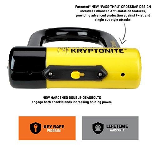 Kryptonite New-U New York Fahgettaboudit Mini Heavy Duty Bicycle U Lock Bike Lock