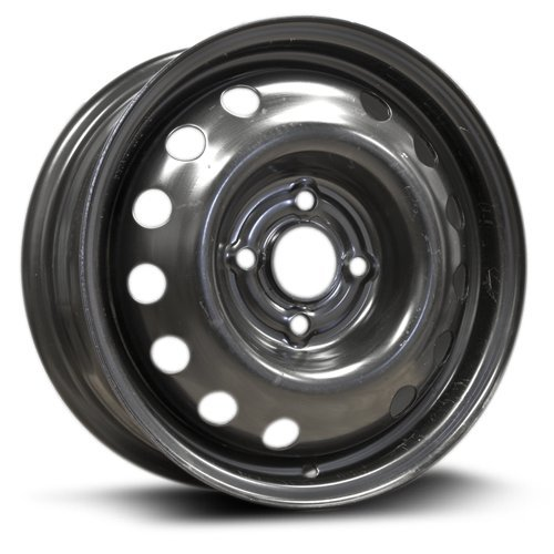 RTX, Steel Rim, New Aftermarket Wheel, 14x5.5, 4-100, 57.1, 45, black finish - Wheel Black New