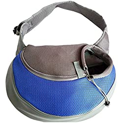 YAAGLE Pet Outdoor Oxford Cloth Cross Body Shoulder Sling Carrier Bag For Small Dog Puppy Cat