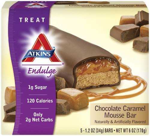 Atkins - Endulge Chocolate Caramel Mousse Bars, 5 bars [Health and Beauty] Chocolate Mousse Bar