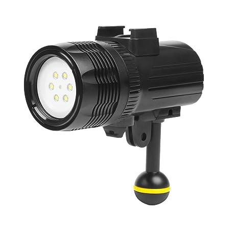 Shoot 1000LM Luz de antorcha para Linterna de Buceo bajo el Agua ...