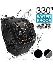 Catalyst Étui étanche pour Montre Apple Watch séries 4 44mm avec Bracelet en Silicone Souple de qualité supérieure, résistant aux Chocs et aux Éléments [étui Robuste iWatch Protective] - Noir