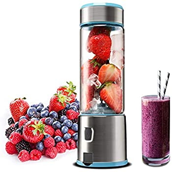 Amazon.com: Glass Portable Blender, KACSOO SPOW Single Serve ...