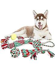 Pecute Hundeseile Hundespielzeug Kauspielzeug Baumwollseil Spielset ideal für kleine bis mittelgroße Hunde und Welpen aus natürlichen hochwertigen Baumwollfasern
