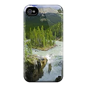 New Fashion Premium Tpu Case Cover For Iphone 4/4s - Isl In Raging River