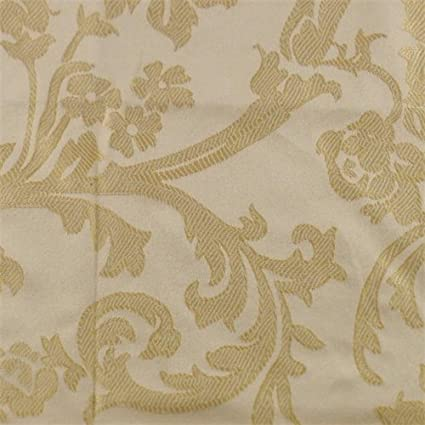 Amazon.com: Golden Beige Floral Damask Home Decorating ...